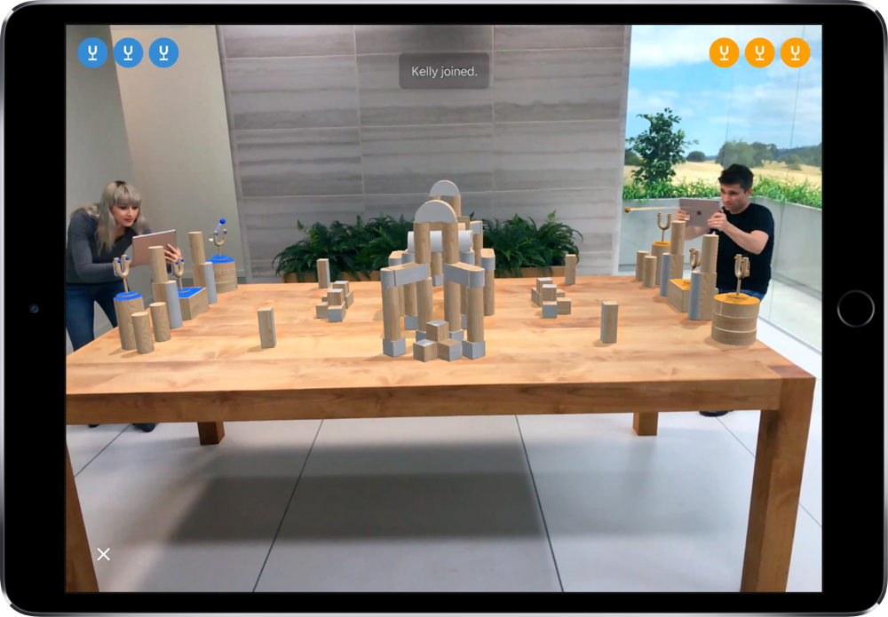 ARKit in use to create an augmented reality game