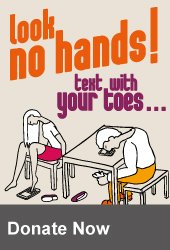 Look No hands! Text with your toes