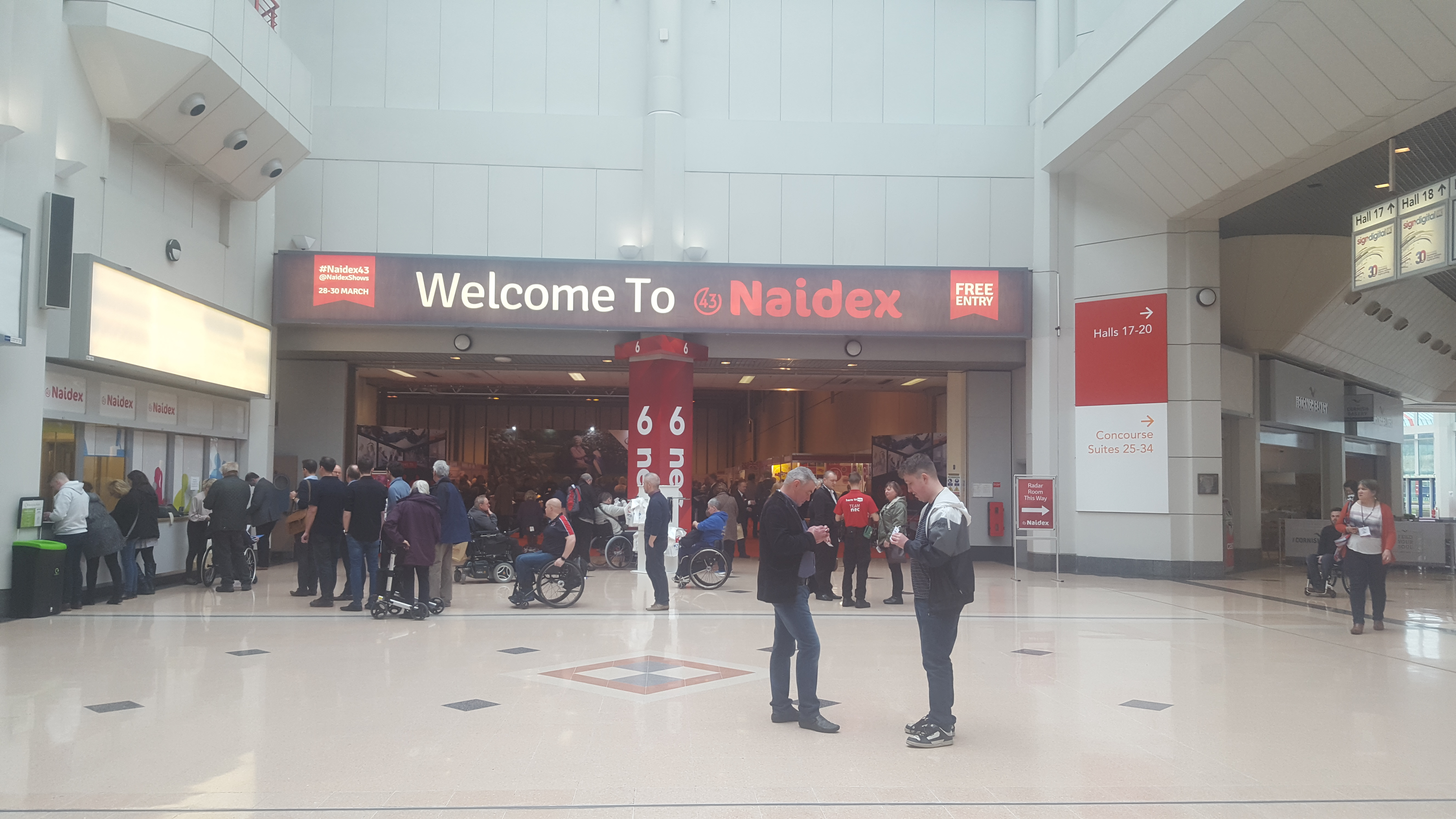 Naidex show at the NEC