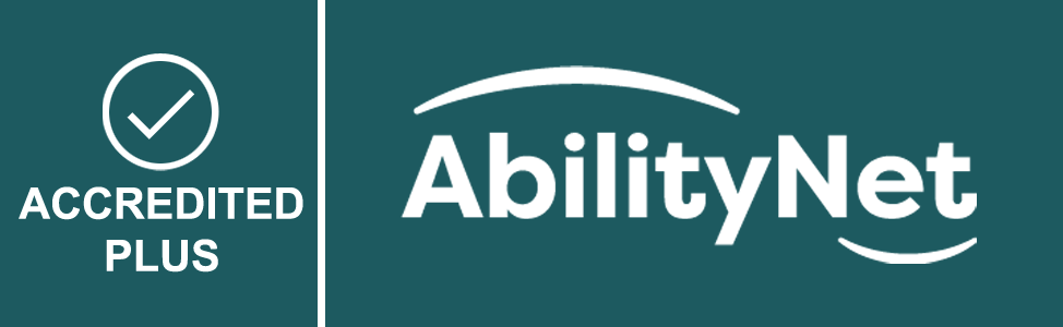 AbilityNet Accredited Plus icon - with tick mark