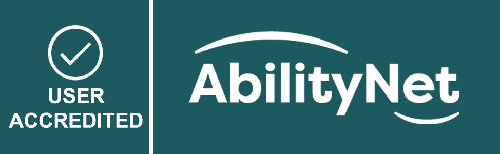 AbilityNet User Accredited icon - with tick mark