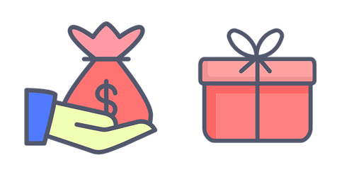 Donation and gift iconography