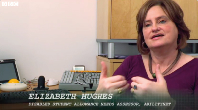 Elizabeth Hughes is one of AbilityNet's DSA Assessment Team