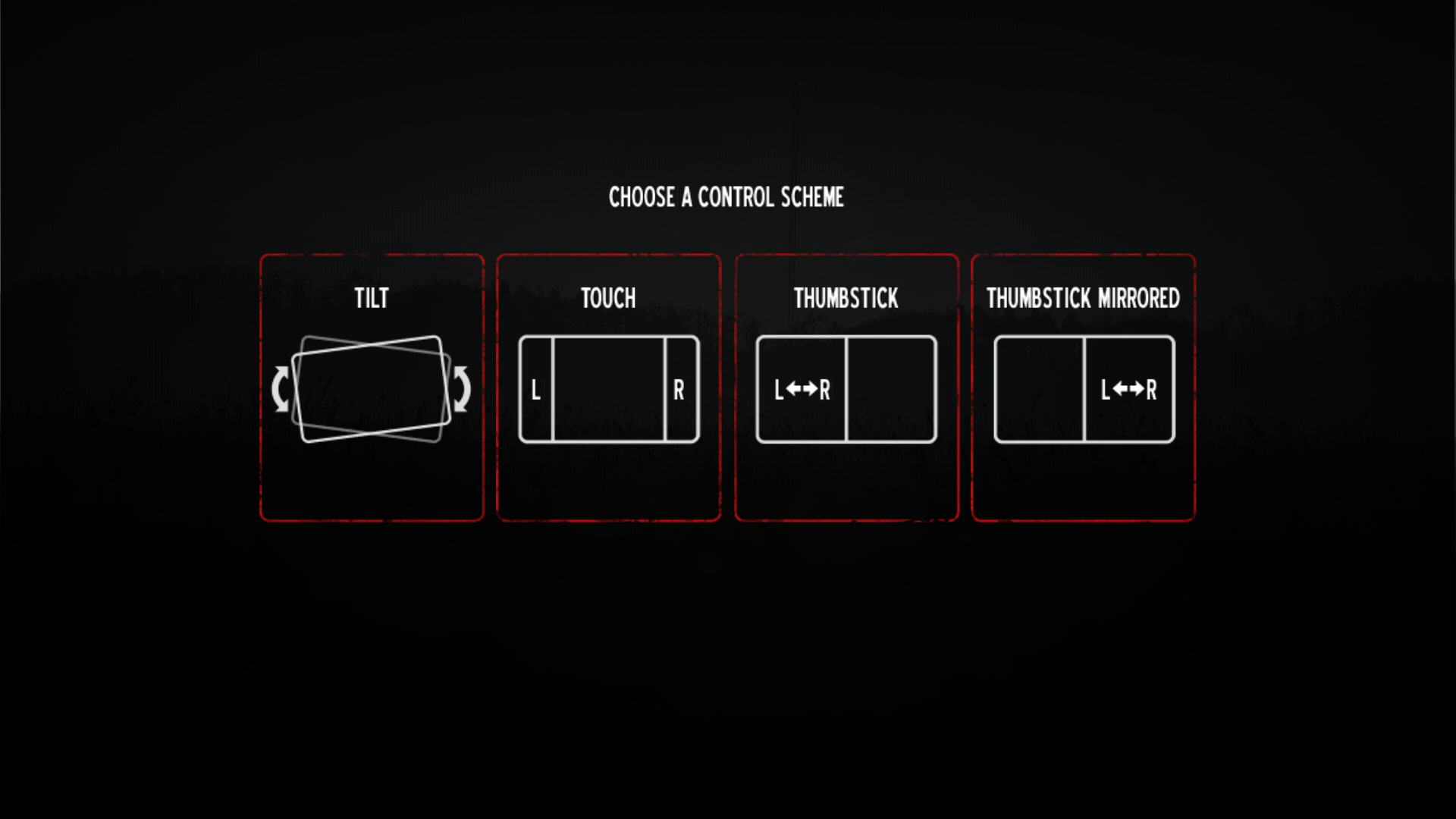 Into the Dead controler presets example for title, left/right buttons, and virtual thumbtack