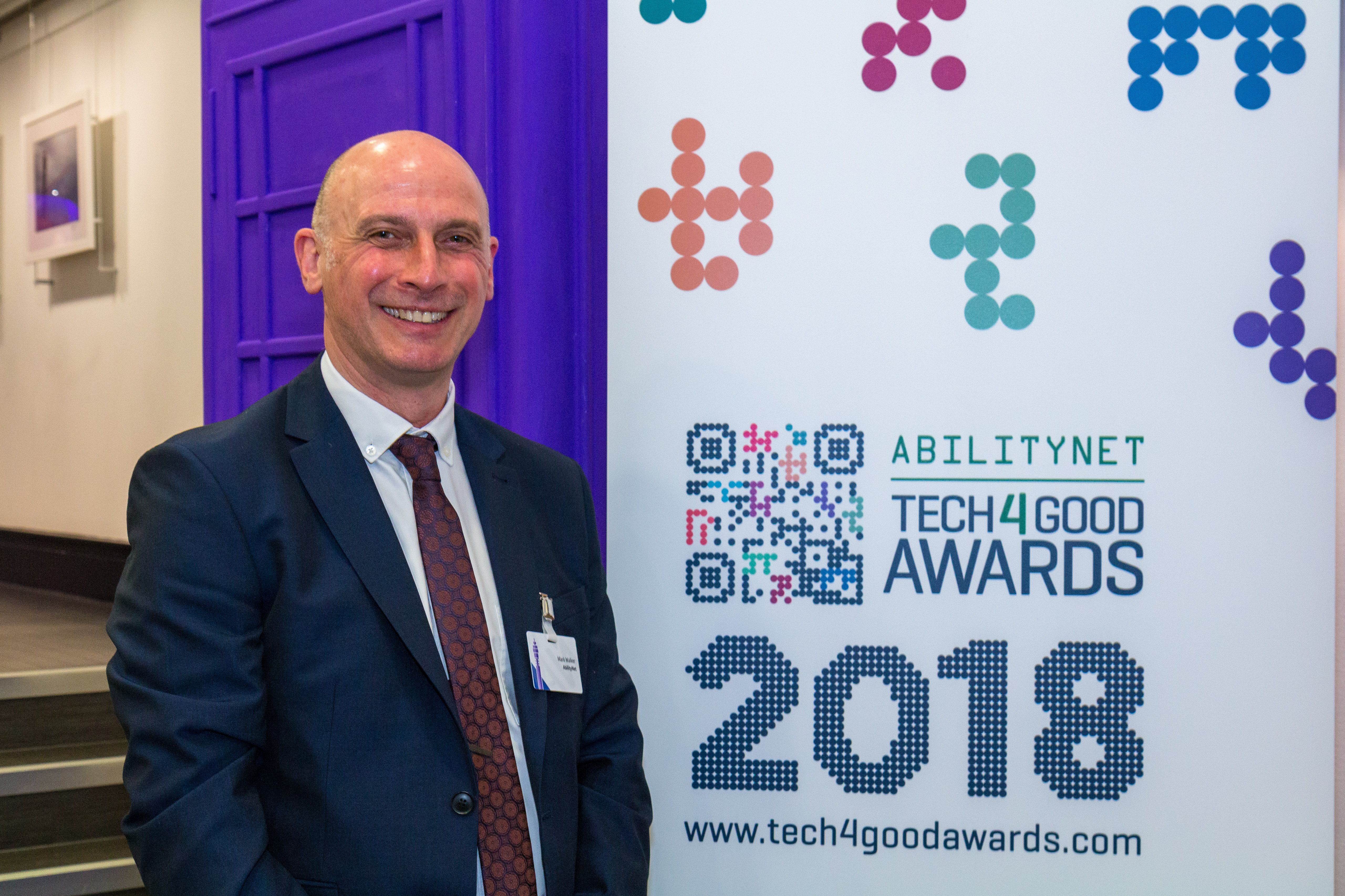 Mark Walker, AbilityNet at the 2018 launch of the Tech4Good Awards
