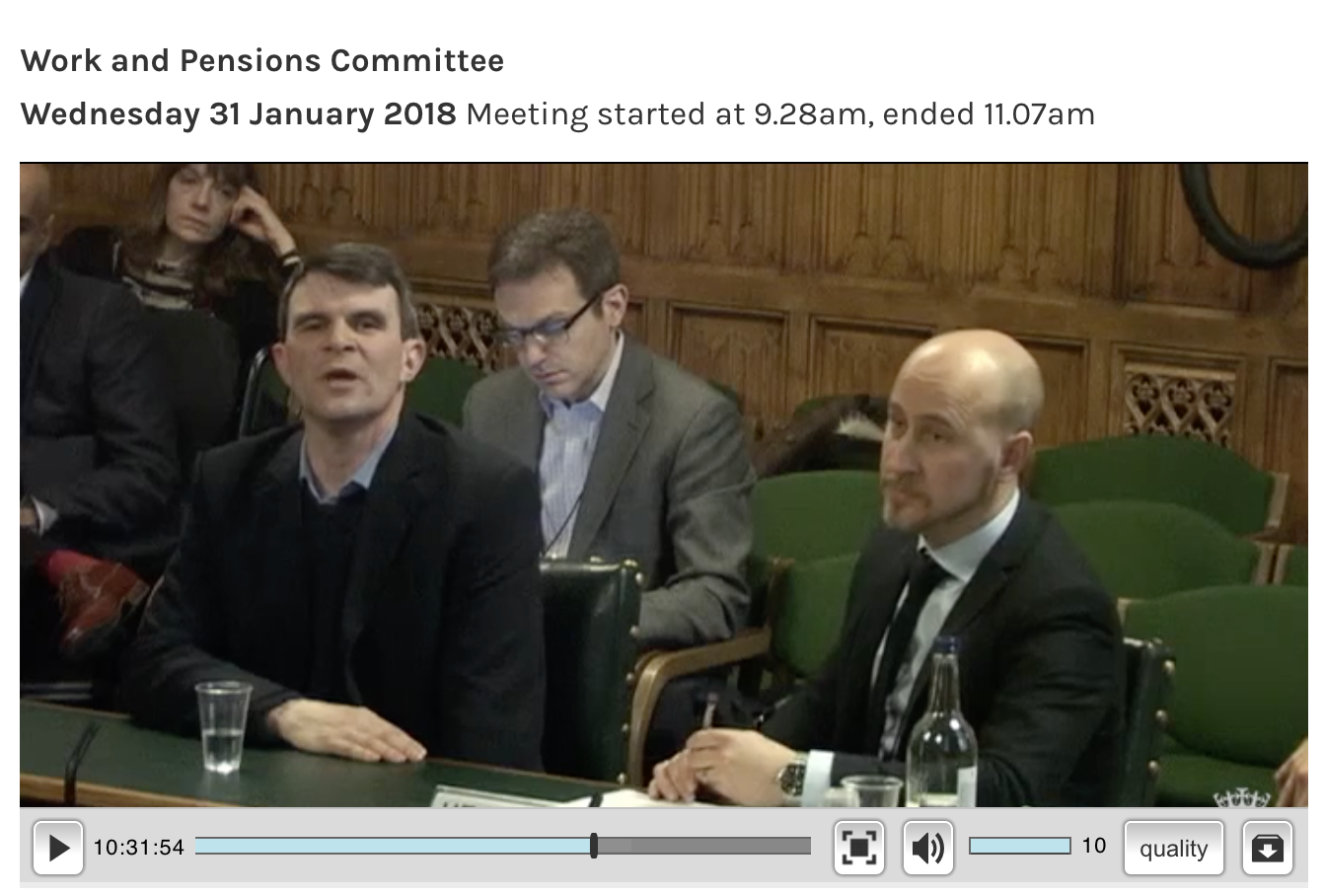 Parliament TV showed the session live and the recording is online now