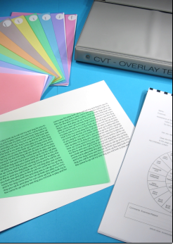 coloured overlays for written documents