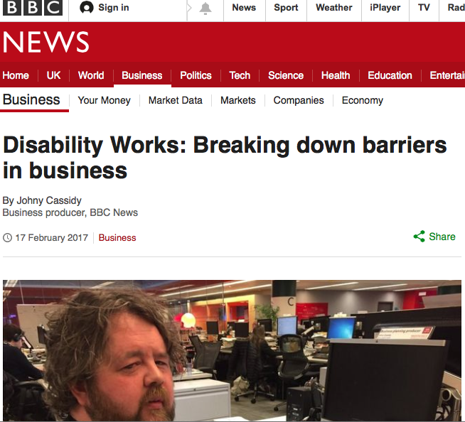 disability works BBC story homepage
