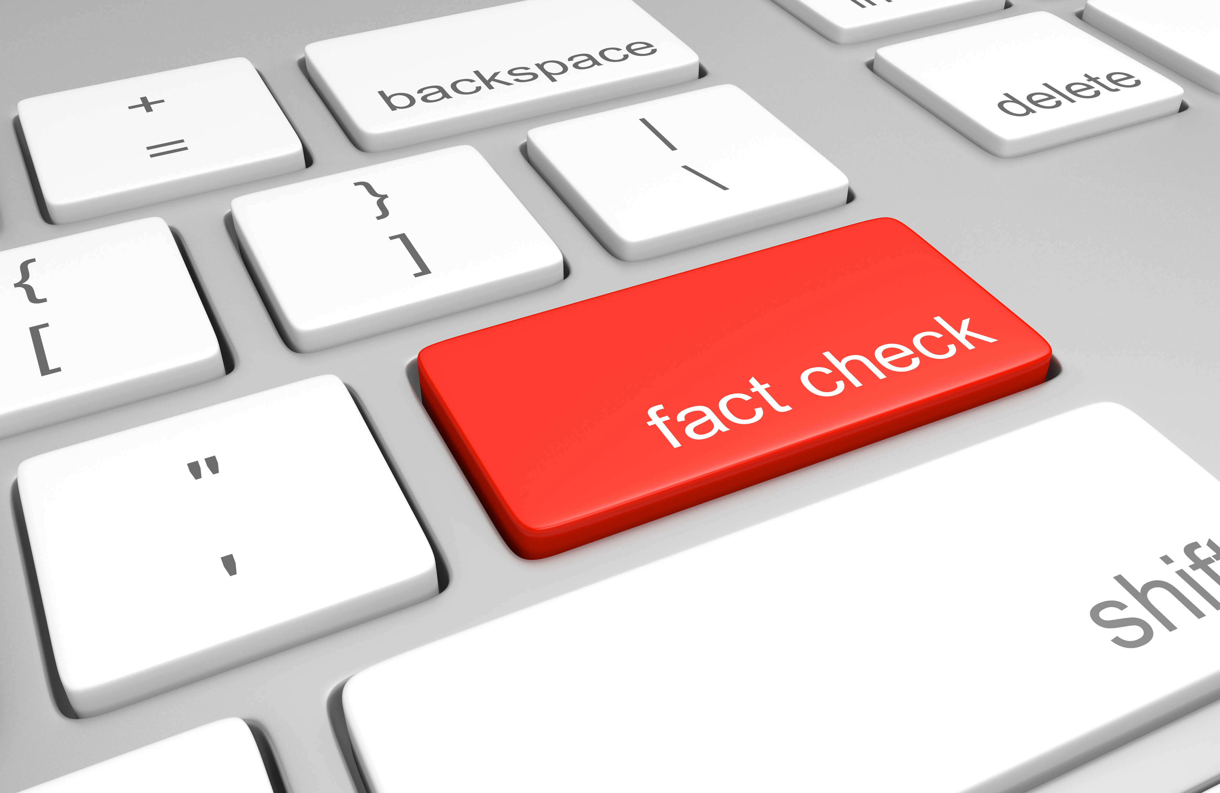 fact check keyboard button