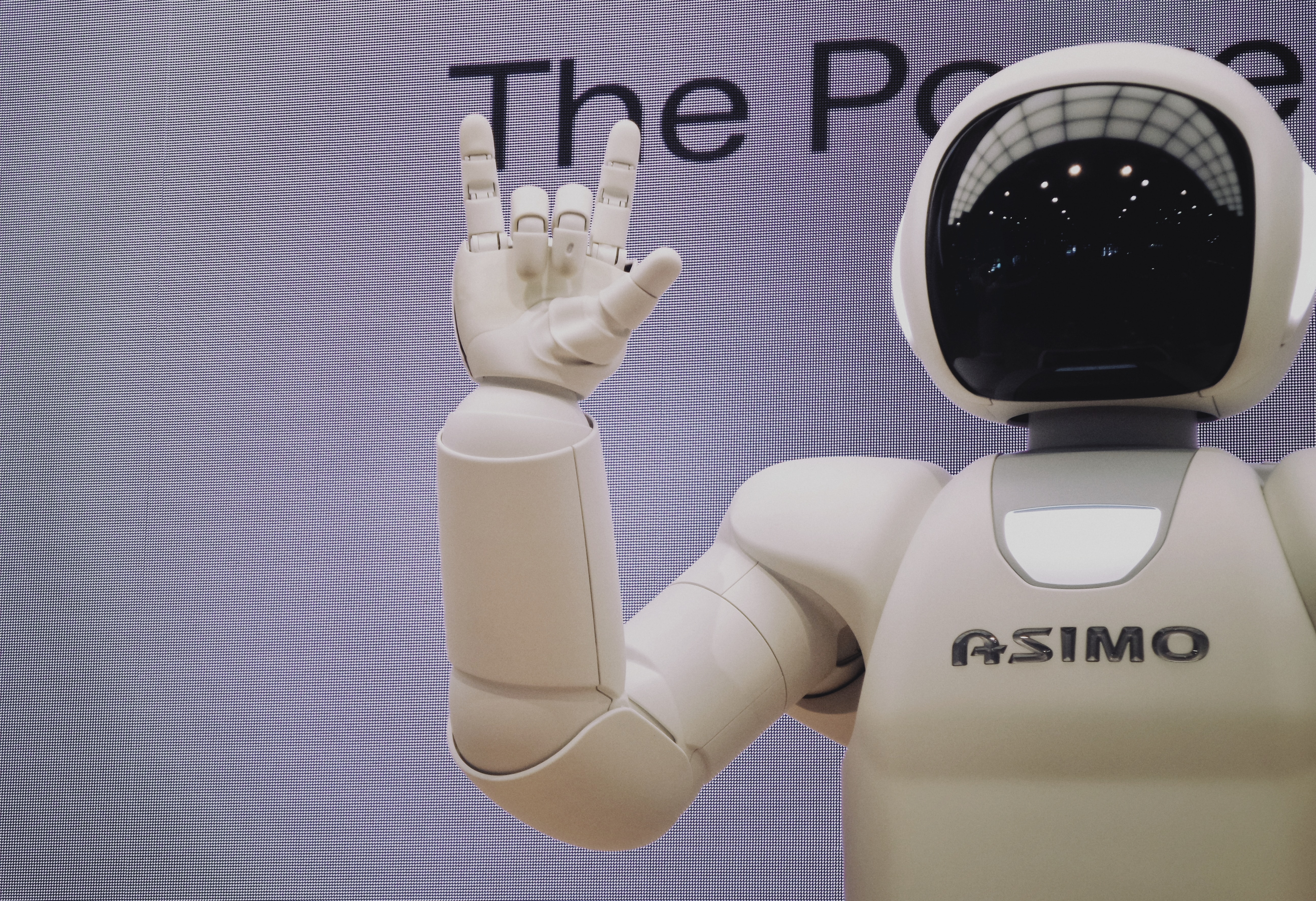 A picture pop the robot Asimo