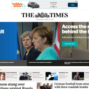 s screen shot of a carousel in automatic motion from The Times newspaper website