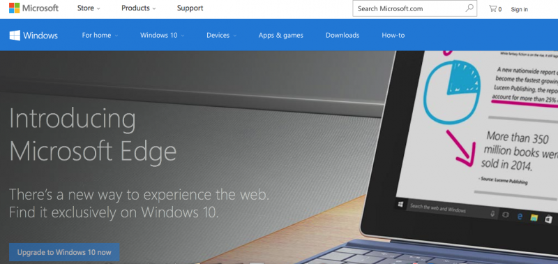 Microsoft Edge page screenshot