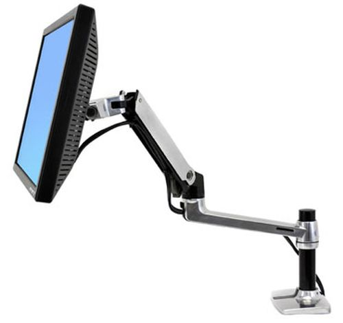 Typical monitor set up on an extendable arm