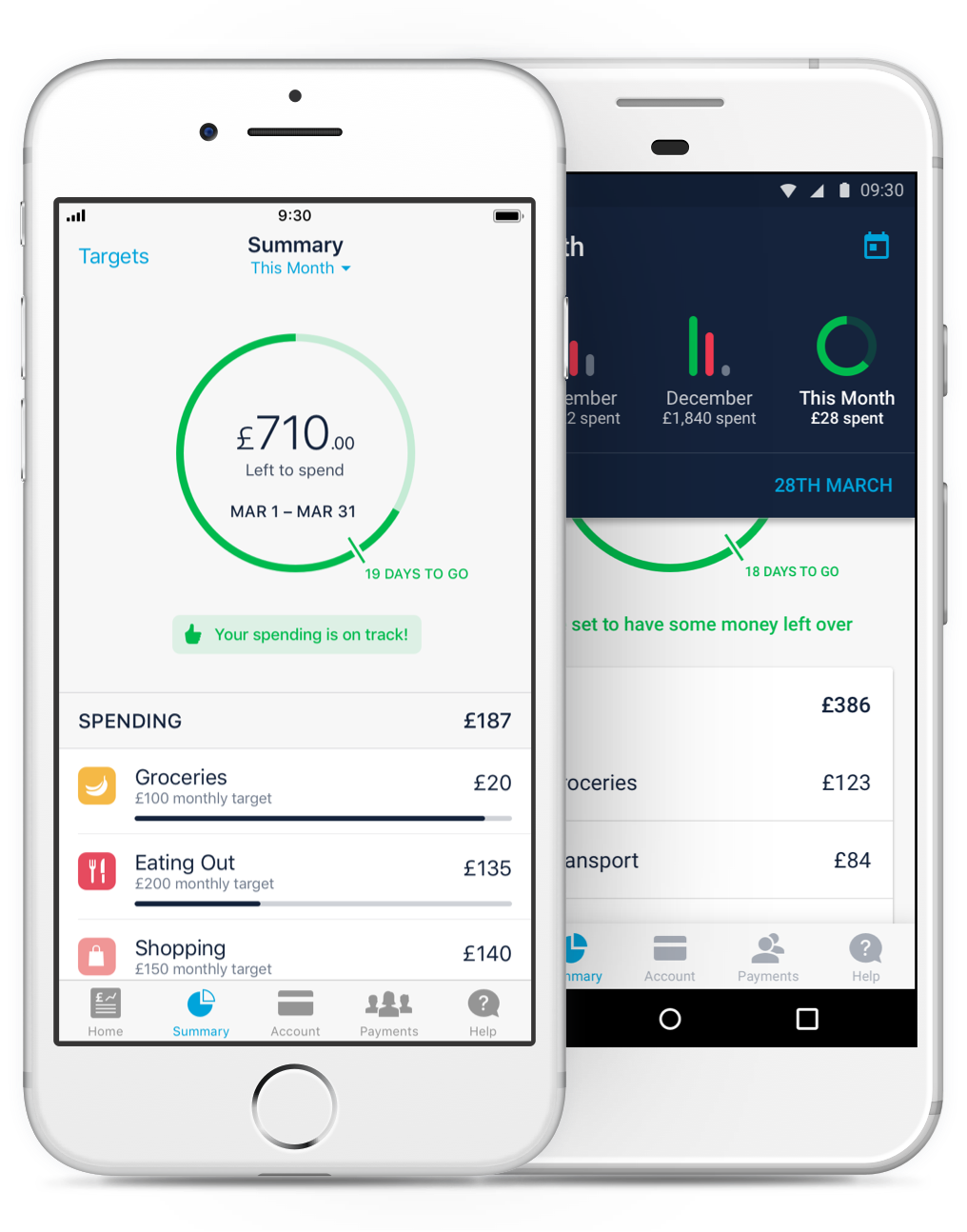 Monzo banking app works on iphone and android