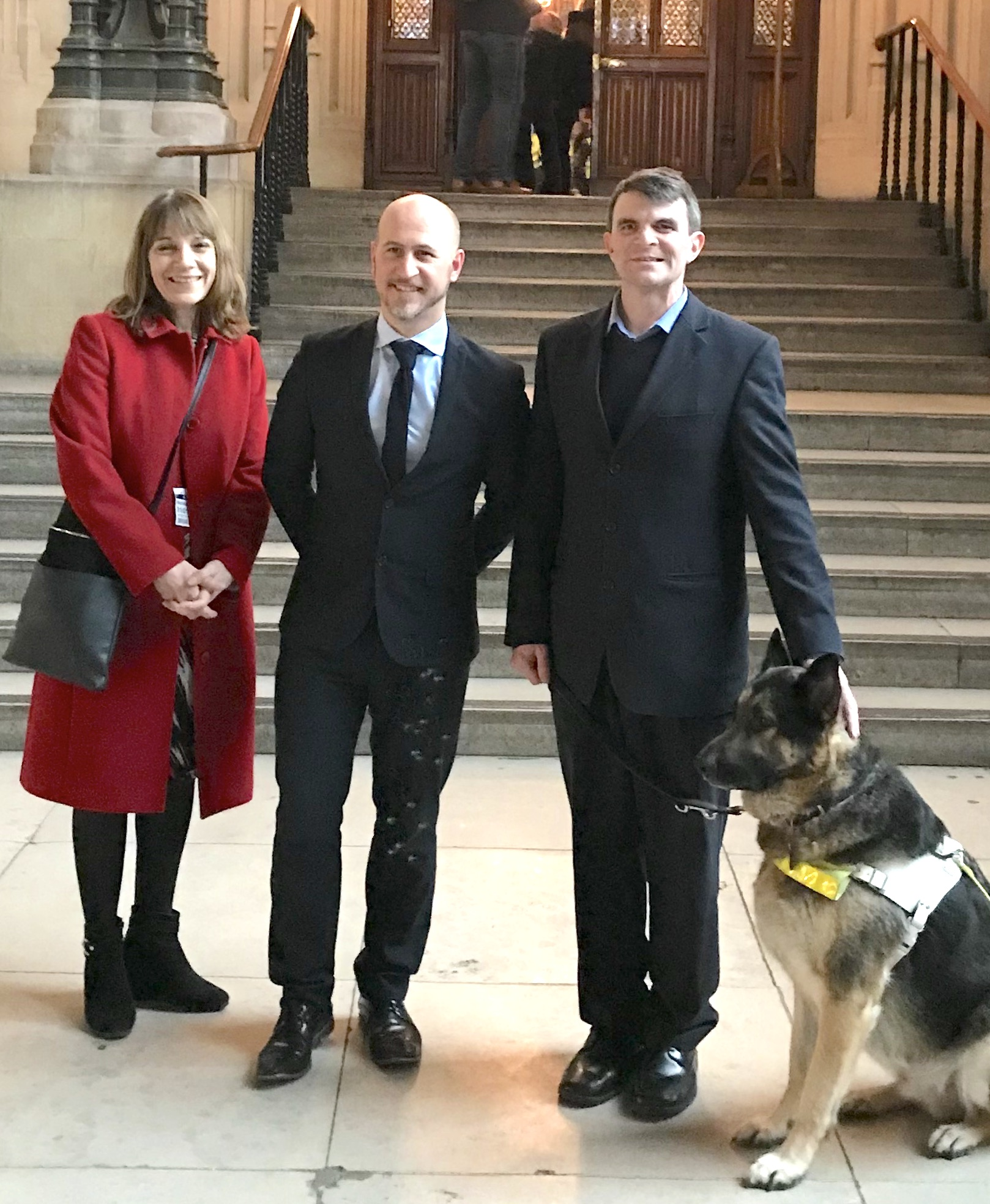 Robin Christopherson with Tracey Johnson and Hector Minto at the House of Commons Select Committee on 31 January 2018