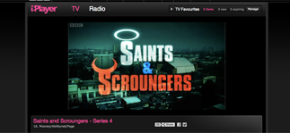 screen grab from saints and sinners on iPlayer