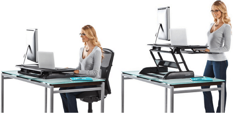 A sit-stand desk is an increasingly popular option in the workplace