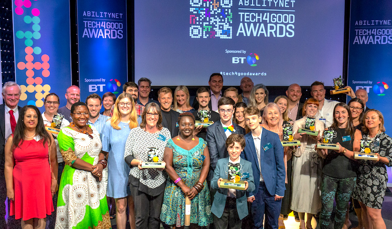 the winners of the tech4good awrads 2018 were announced at a glittering ceremony at BT Centre in July 2018