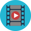 rolling video type icon