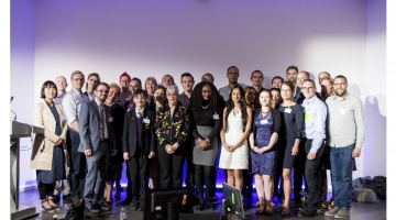 Image of the 2017 Tech4Good Awards Finalists at the BT Tower