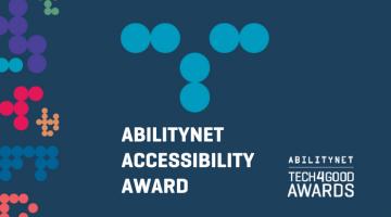 Tech4Good Awards AbilityNet Accessibility Award logo