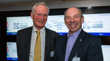 Alan Brooks, new AbililtyNet chairman with CEO Nigel Lewis