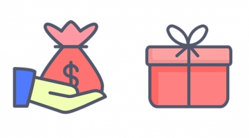 Infographic of donation and gift giving