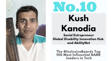 Kush Kanodia banner image - No. 10 in the Inclusive Boards Top 100 Most Influential BAME leaders in Tech