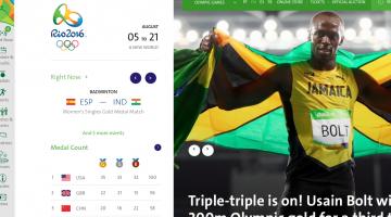 olympics homepage screenshot