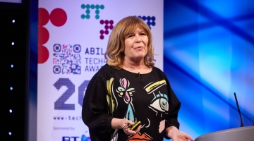 Photo of Maggie Philbin OBE at the Tech4Good Awards 2017