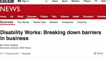 bbc homepage for disability works story