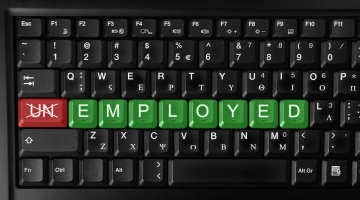 An image of a keyboard with the word un-employed highlighted © Ivaylo Sarayski | Dreamstime.com - Employment