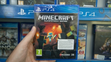 minecraft game box on shop shelf