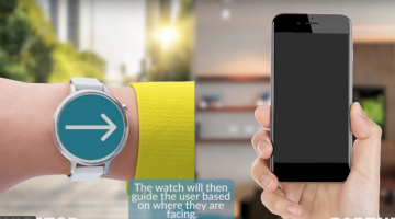 WaytoB smartwatch and phone connected